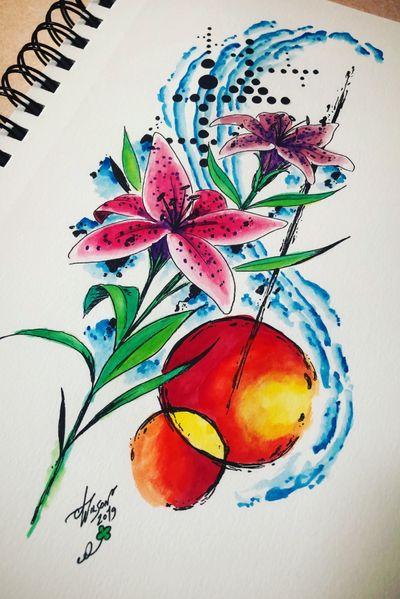Lilies! #lilytattoodesign #abstract #watercolor #trashpolka #staugustinetattooartist #floridatattooartist
