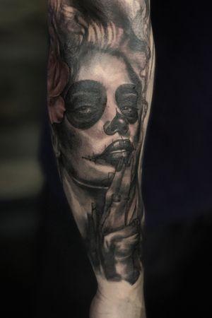 Dead of the dead. #tattoo#crownpoint#indiana#tattooartist#tattoolife#inked#inkedmag#Tattoosnob#skinartmag#tattoodo#tattoosofinstagram#picoftheday#tattoostyle#blackandgrey#debsotattoogreyinks#allegoryink#electrumsupply#blackandgreyallday#indianatattooer