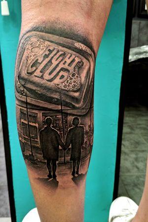 Fight Club Tattoo by Filippos DSTS