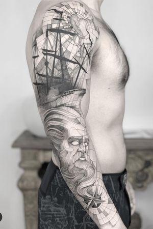 Poseidon 🔱 #tattoodo #ink #anibal_tattoo #tatttoo #black