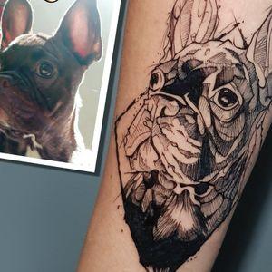sketch tattoo! #sketchtattoo #dogtattoo #pettattoo