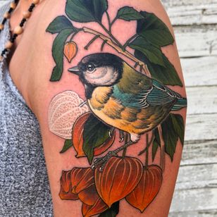 Bird tattoo by Antony Flemming #AntonyFlemming #bird #nature