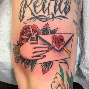 Mom tattoo by dsmndttt #dsmndttt #momtattoo #momtattoos #mom #mother #mum #mommy #happymothersday #mothersday #love #family #flower #letter #heart
