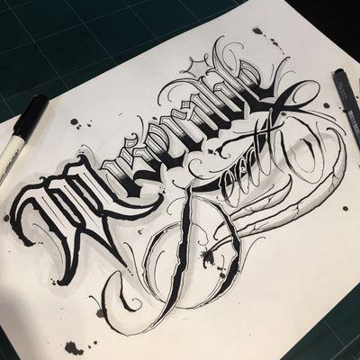 """👇오늘의 스케치입니다👇 """" Miserable Death """" . . #fourdeathart . 작업문의는 카카오 오픈채팅 or DM ! . #crystal #🇰🇷 #todaysketch #miserabledeath #blacklettering #script #blackletters #calligraphy #customlettering #letteringtattoo #customtattoo #scripttattoo #lettering #letras #tattoo #dailysketch #handdrawing #calligraphytattoo #calligrafy #blackcalligraphy #chicanolettering #chicanotattoo #치카노레터링 #커스텀레터링 #치카노타투 #레터링타투 #캘리그라피타투 #데일리스케치 #치카노"""
