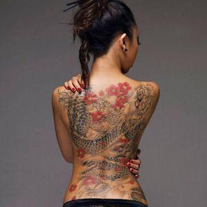 Feminine dragon tattoo
