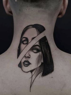 #wheretheytatt #txttoing #portraittattoo #tattooarmada #blkttt #disrupt #tttblackink #onlythedarkest #necktattoo #blackwork