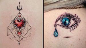Ornamental tattoo on the left by Tattooist Dal and ornamental tattoo on the right by Alejandro Ruizs #AlejandroRuizs #TattooistDal #ornamentaltattoos #ornamental #ornaments #jewels #decorative #jewelry #adorn