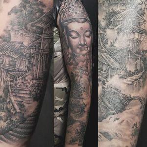 #asian #asiantraditional #asiantraditionaltattoo  #japanesetattoo #japaneae #buddha #realismtattoo #tattoounion #chicago #chicagotattooshops #chicagotattooartist #chinatownchicago #singleneedle #horifong #inked