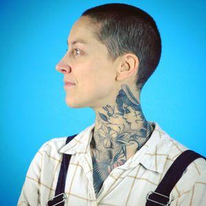 #marlenelecidre #tattooartist #artist #tatted #tattooart #necktattoo #profile #photography