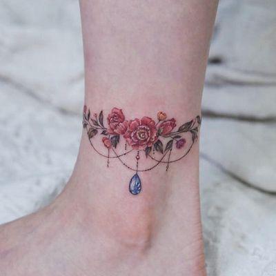 Ornamental tattoo by Tattooist Ara #TattooistAra #ornamentaltattoos #ornamental #ornaments #jewels #decorative #jewelry #adorn #gems #crystals #diamonds #pearls #floral #rose #flowers