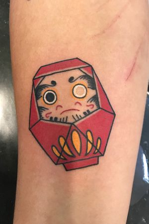 Origami Daruma tattoo #daruma #darumatattoo#origamitattoo