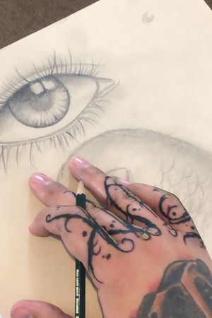 Alwals Drawing #tattoo #eyestattoo #tattooclock #designer
