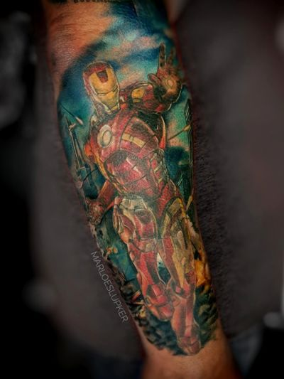 I am Ironman! #ironman #marvel #ironmantattoo #superhero #endgame #avengers #infinitywar #marvelsleeve #marloeslupkertattoo