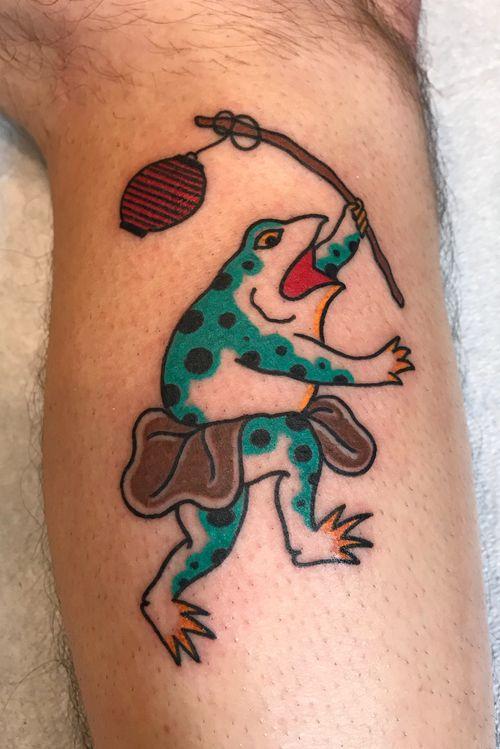 Kaeru tattoo #kaeru #kaerutattoo #japanesefrog #frogtattoo #jfztattoo