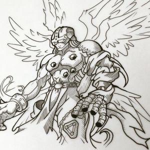 #angemon #design #digimon #sivartattoo #inkstoptattoocollective #tattoowork #tattooworld
