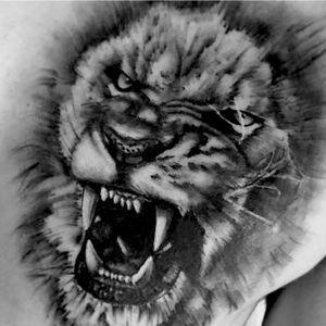 #blackandgray #realism #lion