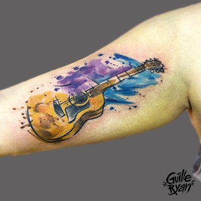 @guilleryan.arttattoo guilleryanarttattoo@gmail.com #guitar #sketchtattoos #cutetattoos #tattoobarcelona #sketchtattoo #watercolor #watercolorartist #watercolortattoo #watercolorph #watercolorillustration