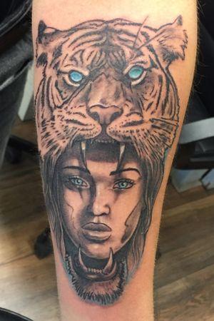 Freehand done @ Cult-art Shop #tiger #oldschool #tattooart #cultart #nijverdal #netherlands #nl #gja #aaltink #tattoogj