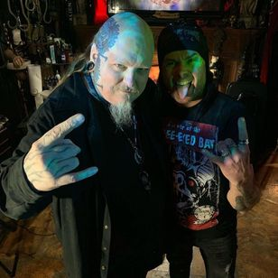 Paul Booth with Dani from Cradle of Filth #PaulBooth #Dani #cradleoffilth #BoothGallery #FineArt