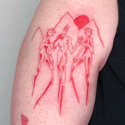 Cool tattoo by Sasha aka bigolebrat #Sasha #bigolebrat #cooltattoos #cooltattoo #besttattoos #unique #special #surreal #strange #awesome #cool #redink #illustrative #ignorant