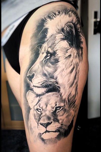 #Onlythebesttattooart #tattoo #ink #cristianrodrigueztattoos #blackandgrey #realism #surrealism #dotwork #ornamental #tribal #gemetric #colortattoo #liontattoo #lion