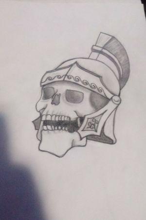 Roman skull #skulltattoo #skull #roman #romanskulltattoo #caveira