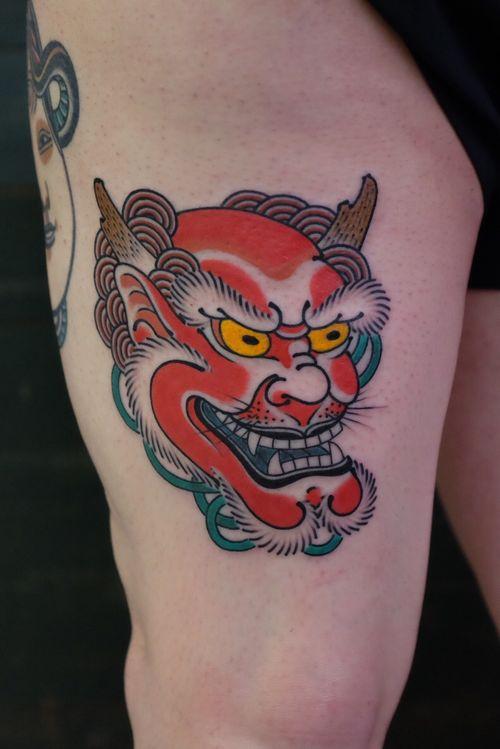 #andreivintikov #tattoominsk #japanesse #minsk #oni #raijin #japanessemask