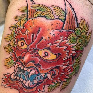 Oni head. For appointments email Beau@capturedtattoo.com