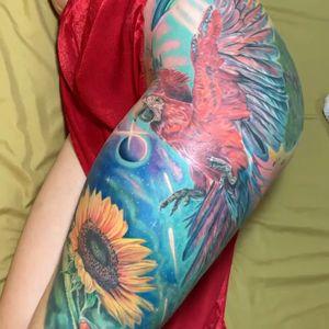 Close up of this leg sleeve in progress.💥For appointmets 👉🏻📩inked@barbatattoostudio.com #intenzepride #tattoounity #miamitattoos #instapic #instatattoo #tattooedgirls #tattooartist # tattoogirl #realistictattoo #tattooideas #artwork #fullcolortattoo #colortattoo #miamitattoos #305tattoos #floridatattoos #nortmiamitattoos