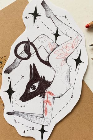 #illustration #yoga #wolf #dog #nantes #france