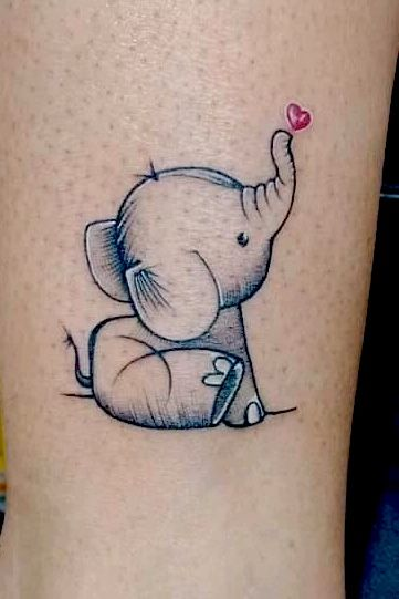 Small Elephant Tattoo #Smalltattoo #Elephant #Tattoozbyrobby #Inkmetattooz #Elephanttattoo #Cutetattoo #Girlstattoo