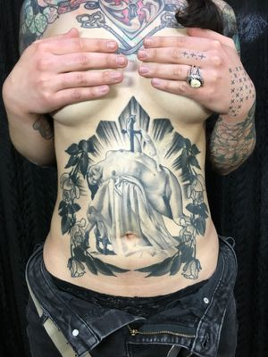 Tattoo by Gerald Feliciano #GeraldFeliciano #blackandgrey #fineart