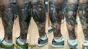 #tatuaje #tattoo #dragonball #supersaiyantattoo #kamehouse #dragonballztattoo #genitortuga #geniusturtle #goku #songohan #songoku #maestromutenroshi #mestremutenroshi #boladedragon #boladedrac