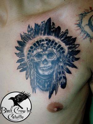 #craneo #apache #skull #blackandgray #blancoynegro