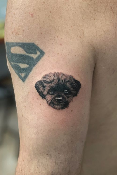Handpoked pup for Chris. 🙏🏼
