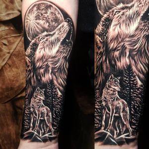 Fun B&G Wolf forearm piece 🐺🐺