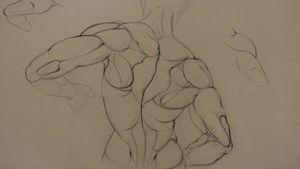 Figure study. #figurestudy #drawing #anatomystudy #fineartist