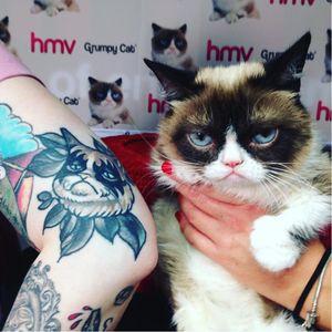 #TardarSauce #GrumpyCat #cat #kitty #petportrait #GrumpyCattattoos #GrumpyCattattoo #cattattoo #meme #petportraittattoo #funnytattoo