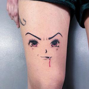 Vampire tattoo by Berly Boy #BerlyBoy #monstertattoos #monstertattoo #monster #demon #vampire #devil #ghoul #ghost #darkart #horror #kawaii #anime #manga