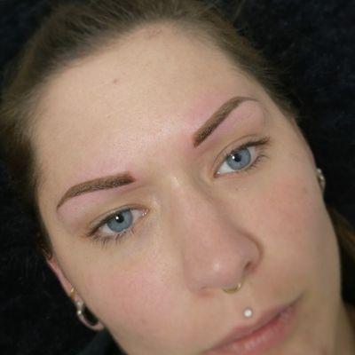 Eyebrow tattoo Natral look Soft powder effect #noemikovacstattoo #noemikovacsmakeup #cosmetictattoo #eyebrowtattoo