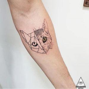 Para quem estava curioso em ver a arte que fiz no repórter do Tv Fama, Rafael Pessina, aí está, arte exclusiva em cima da foto do seu gato Miguelito Muito obrigado Mano, pela conversa e risadas, e principalmente por confiar em mim a sua primeira tatuagem. . Orçamentos pelo Whatsapp: (11)9.9377-6985 . #ericskavinsktattoo #gato #tatuagem #reporter #tvfama #crossfit #tatuagem #gatinho #alphavilleearredores #alphaville #tattoo2me #easyglowpigments @easyglowpigments