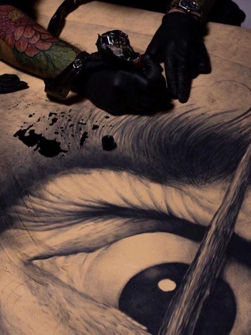 Ganga tattooing #Ganga #tattooartist #Dali #realism #hyperrealism #portrait