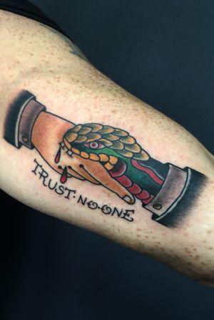 #tattoo #traditional #oldschool #snake