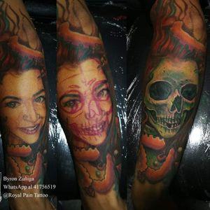 Cover UP Tattoo #royalpaintattoo #byronzuñiga #coveruptattoo #guatemala #realismtattoo