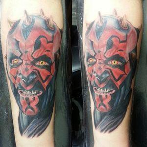 Darth Maul from Star Wars.  Love doing star wars pieces, wish I had more.#theinkuisition #southjersey #nj #njtattoo #njink #jerseyshore #atlanticcity #ac #tattoo #tattoos #ink #inked #tat #tats #art #Philly #realism #portrait  #fusionink #darthmaul #starwars #starwarstattoo #sith #sithlord #darthmaultattoo