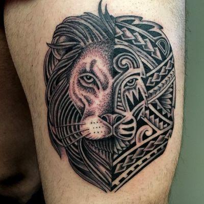 #antoniomai #amaitattoo #losangeles #Tribal #Polynesian #Maori #Samoan #Geometric #DotWork #BlackWork #OldSchool #Traditional #Japanese #Irezumi #FineLine #Ornamental #lion