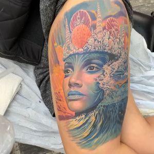 Leg sleeve in progress. Yemaya #intenzepride #tattoounity #miamitattoos #instapic #instatattoo #tattooedgirls #tattooartist # tattoogirl #realistictattoo #tattooideas #artwork #fullcolortattoo #colortattoo #miamitattoos #305tattoos #floridatattoos #nortmiamitattoos #besttattoos #coralspringstattoo #bestattooartist #floridattatoos