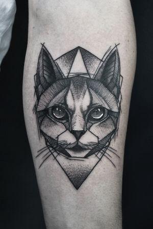 #cat #cattattoo #tattooing #sketchtattoo