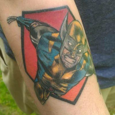 #tattoo #tattoos #colortattoo #colorful #marvel #superhero #mutant #xmen #uncannyxmen #wolverine #weaponx #logan #jameshowlett #ComicBookTattoo #fusionink #nhtattoo #greenlandnh #splatterpalettetattoo #forearmtattoo #popculturetattoos