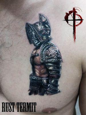 On my design full healed. White color fresh #tattoo #ta2 #tattz #colortattoo #realistictattoo #realism #inkwork #inkstagram #inkart #inkaddict #tattooist #rusttermit #gladiator #warrior #cheyenne #worldfamousink #тату #гладиатор @cheyenne_tattooequipment @worldfamousink